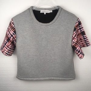 Finders Keepers SS Gray Cropped Sweatshirt Size M